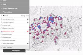 swiss map swiss no fly zone drone map robotics journal
