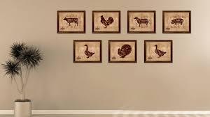 turkey meat cuts butchers chart home decor wall art decoration