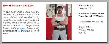 Bench Press Program Chart Increase Bench Press Program From Critical Bench
