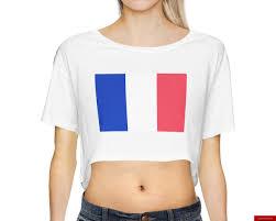 Flag Crop Top Origin Clothing Women U0027s French Flag Crop Top