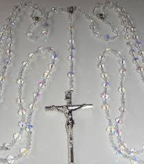 wedding lasso rosary lasso wedding rosary bicone glass
