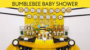 bumblebee baby shower party ideas bumblebee s17 youtube