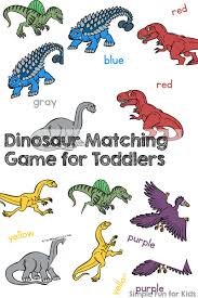 dinosaur matching game toddlers simple fun kids