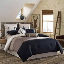 bedroom romantic blue and brown comforter sets for luxurious