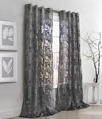 gray sheer 108 curtains and fl burnout grommet curtain panel couture for inspiring living room decorating ideas