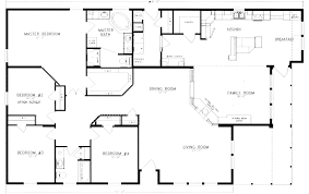 four bedroom floor plans beautiful popular 4 bedroom cabin plans for kitchen bedroom