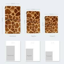 giraffe pattern notebook monogrammed personalized leather travel journal giraffe fur