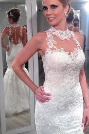 affordable bridal gowns lace halter mermaid wedding dresses backless custom wedding
