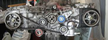 how to set timing timing belt change on a subaru sohc ej25