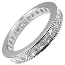 cartier platinum rings images Cartier princess cut diamond eternity platinum band ring at 1stdibs jpg