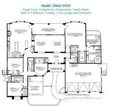 4 bedroom floor plans one story ridge floor plan 3410 model