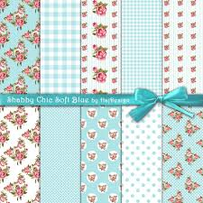 shabby chic wrapping paper shabby chic soft blue digital collage sheet digital paper