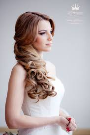 wedding hairstyles with straight long hair parted in the center