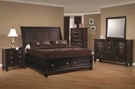 bedroom black wooden bed solid wood bed frame king size bedroom