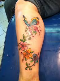 butterfly flower thigh tattoos for clipart library