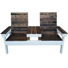 Rustic Patio Furniture Sets by Rustic Two Seater Hand Made Patio Furniture Set With Center Table