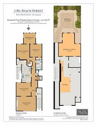 Kerry Campbell Homes Floor Plans by 1782 Beach Street San Francisco Ca 94123 Sold Listing Mls