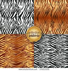 zebra print wrapping paper vector seamless pattern animal print texture stock vector