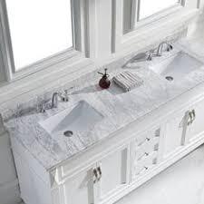 Virtu Bathroom Vanity by Overstock Solid Oak W Decorative Corners And Marble Backsplash