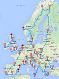 map trip ultimate road trip around europe in one cool map