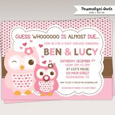 owl baby shower invites owl baby shower invites by created your
