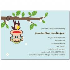monkey boy baby shower monkey boy baby shower invitation bs046