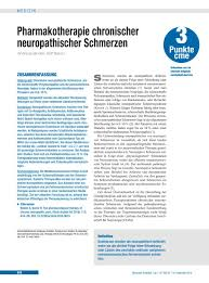 Individuelle K Hen Pharmakotherapie Chronischer Neuropathischer Schmerzen