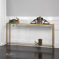 Restoration Hardware Console Table by Uttermost Hayley Gold Console Table On Sale