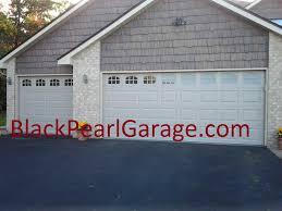 steel carriage garage doors black pearl garage