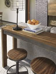 torjin brown and gray long counter height dining table from ashley
