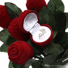 red rose rings images Discount valentine 39 s day red rose flower ring box 27 4cm romatic jpg