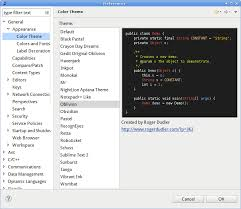 themes builder 2 0 spicing up eclipse with themes