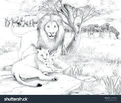 safari scene coloring pages animal print page arctic animals