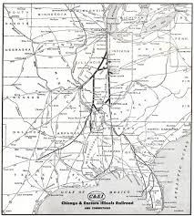 Map Of Central Illinois by The Chicago And Eastern Illinois Railroad