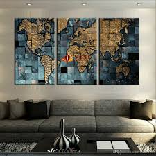 World Map Home Decor 2017 Large Canvas Prints Modern Wall Art The Abstract World Map
