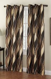 Victoria Classics Curtains Grommet by The Intersect Grommet Curtains Has A Horizontal Multi Color Wave