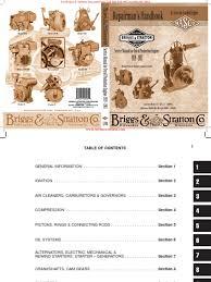 briggs u0026 stratton repairman u0027s handbook for older engines 1919 1981