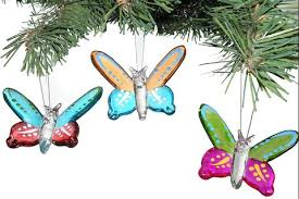 glass butterfly ornaments set of 3 relevant gifts