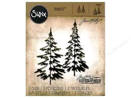 sizzix thinlits die set 2 pc woodlands createforless