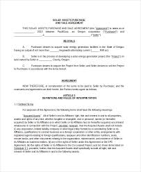 asset purchase agreement 7 free word pdf documents download