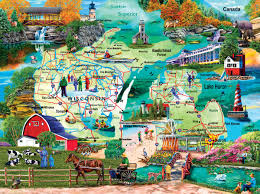 The Great Lakes Map The Great Lakes Jigsaw Puzzle Puzzlewarehouse Com