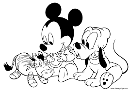 baby mickey coloring