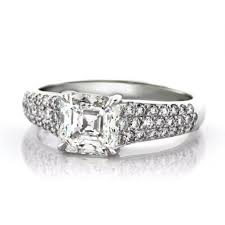 asscher cut diamond engagement rings jacob u0026 co 2ct platinum asscher cut diamond engagement ring cheap