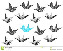 polygonal vector origami cranes patten royalty free stock