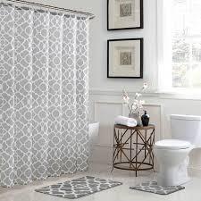 White Bathroom Rugs Bath Fusion Elsa Geometric 18 In X 30 In Bath Rug And 72 In X