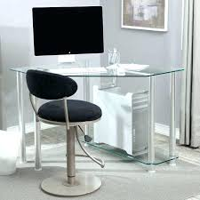 Black And Chrome Computer Desk Glass And Chrome Computer Desk Inspirati Black Chrome Glass Corner
