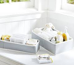 Changing Table Caddy Gray Canvas Changing Table Storage Pottery Barn