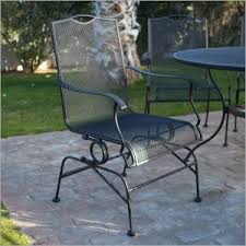 mesh wrought iron patio furniture outdoor pair of woodard wrought iron with mesh lounge chairs at