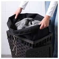 Wicker Laundry Basket With Lid Ikea Knarra Laundry Basket With Lining Ikea