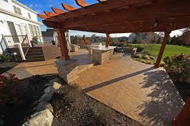 Pergola Outdoor Kitchen A Patio And Landscape Design
